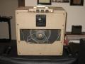 VOX AC4 JMI eind 1963, Fawn, 2 piece back met 8 inch Elac 8C-164 alnico speaker 8 ohm.
