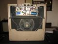 VOX AC4 JMI eind 1963, open back met 1e buizencircuit en 8 inch Elac 8C-164 alnico speaker 8 ohm.