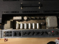 Vox AC30-6TB Super Reverb Twin Slant Top late 1965, chassis met Woden trafo's.