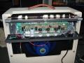 VOX AC15H1TV, zicht op buizenbezetting beide preampsecties: EF86 en Top Boost 3* ECC83/12ax7.