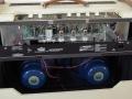 VOX AC30H2, open achterzijde, zicht op buizenbezetting beide preampsecties: EF86 en Top Boost 3* ECC83/12ax7 en Celestion Blue Alnico speakers 12 inch.