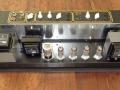VOX AC30H2, zicht op buizenbezetting beide preampsecties: EF86 en Top Boost 3* ECC83/12ax7.