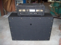 1966- Vox 4120 Hybride bas 120 watt head en closed 460 cabinet, back.