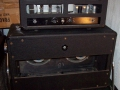 1966- Vox 710 hybride head en cabinet met 2x 10 inch ceramic Celestion CT7721.