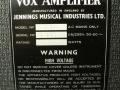 1966- Vox 710 typeplaatje.