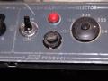 Dome Voltage Selector op last van de BSI ingevoerd in 1964. Mains switch MK IV met plastic shaft in Jaguar style.
