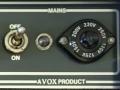 Euro Voltage Selector met geintegreerde cijfers, toegepast eind 1960, in Post JMI en CBS Arbiter modellen. Mainsswitch MK III met lange shaft en geen bal.