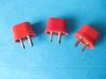 Red (of White) Voltage Selector voor 110-230 volt in kleinere Vox JMI en Vox Domino Practice Amps. Onder de kap zit hier geen zekering.