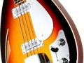 Bill Wyman Style Bass VBW 2000, Sunburst 50th Anniversary, Limited Edition 50 stuks Japan 2007, body front met Vintage Alnico Single coil Bass pickups.