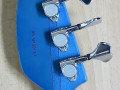 Bill Wyman Style Bass VBW 2500, Whale Blue, 50th Anniversary, Limited Edition , Japan 2008, headstock back met serienummer.