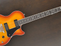 SSC 55 Solid Single Cutaway Siennaburst Flame Maple 2011 Korea, Alu Max Connect bridge, Twin CoAxe pickups, front.