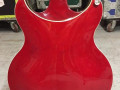 HDC77 Hollow Double Cutaway  Transparent Red 2010 Korea, Alu Max Connect bridge, Twin CoAxe pickups,  body back.