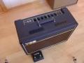 Top Korg Marshall AC15 TBX 1995-2003. Black Panel, Blue Alnico Celestion speaker. Tremolo en reverb via footswitch.