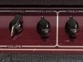 Red Panel Korg Marshall Standaard AC30 TBX 2003. Vibrato /tremolo schakelaar.