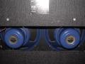 Back Korg Marshall Standaard AC30 TBX 1998. Red panel, GZ34 gelijkrichtbuis. TBX heeft blue alnico Celestion speakers, TB heeft Greenback speakers.C