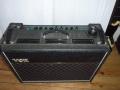 Vox AC30 TBR 1989, Audio Factors uitvoering. Door Ken Flegg (van Gelf mixers) herzien kostenbesparend circuit 28 Watt RMS. Grote PVC vents, Standby schakelaar. Grove tolex Marshall style.