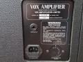 Top Vox AC30 TB Vintage Series 1991-1993. Geproduceerd bij Precision Electronics, mains aansluiting en typeplaatje.