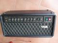 Vox Concert 501 top, geproduceerd bij Audio Factors 1987-1989. Vermogen 50 watt buizen RMS. Deze types zijn van weinig betekenis voor de sound van The Shadows.