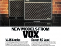 Vox Rose Morris advertentie voor de beide Dallas producties V125 en Escort50.