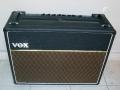 Front Vox V125 1982 Climax Combo 125 w rms. De vervanger voor de CBS-Arbiters AC 120. Grey panel, 4xEL34, 2xECC83, ECC81, ECC82. 2x12inch speakers van 80 watt.