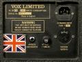 Typeplaatje met powersectie Vox AC30 TBR 1989, Audio Factors uitvoering,