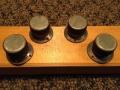 Vox Duralumin knobs MKIIb met spiegelende insert. Toegepast op PA mixers, Solid State Amps