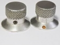 Vox Duralumin knoppen type MK IIa toegepast op Vox Echo's, Cliff Richard Reverb, Solid State Amps.