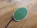 Vox footswitch UK model Oval eggtop, originele JMI groene onderkant en strepen in lengterichting.