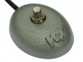 Vox single footswitch UK model Oval eggtop met schuine letters vanaf 1963. Bij de Amerikaanse versie staan de letters recht.
