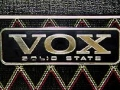 Vox logo voor transistor modellen.