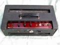 Top Vox AC50/2 MK1, 2 inputs, Red panel, eind 1963 /begin 1964, slechts 100 stuks geproduceerd. Klein en dun cabinet, geen cornerprotection. 4 EL34 eindbuizen, GZ34 gelijkrichter, preamp 1*ECC82 en 2*ECC83. Warning lamp voor foutieve speakeraansluiting, pill spanningsregelaar.