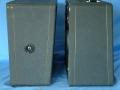 Zijaanzicht Vox portable speaker cabinets.