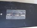 Vox 6 kanaals Preamp Mixer VSEL typeplaatje.