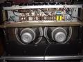 Vox AC30 TB VSEL model 1968-1969, open back, met tagstrips en serienummers tussen speakers en op chassis.