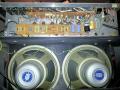 Vox AC30TB overgangsmodel VSEL / VSL Stolec tijdvak. Verlaagd chassis met een gekantelde tagstrip. Grey T1088 Celestion speakers met VSEL logo.