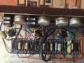 Vox Echo Reverberation Unit, open back, chassis met reverbtank onder, tagstrip en potmeters.