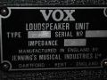 1967- Vox Dynamic Bass Amp, JMI typeplaatje cabinet.