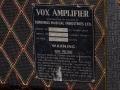1967- Vox Foundation Bass, JMI typeplaatje head.