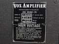 1967- Vox Foundation Bass, VSL typeplaatje head.