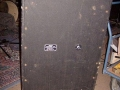 1967- Vox Super Twin Foundation Bass closed cabinet, back.