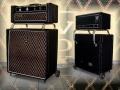 Vox Dynamic Bass met chrome Amp support (Luggage rack) en rollaround base 1967-1968, voor en achterzijde VSEL uitvoering.