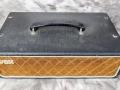 Vox T60 MKIIa head eind 1963 bruin doek, geen vents, geen gold piping, 30-40 watt RMS afhankelijk van cabinet, top.