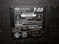 2001-2005 T60 Solid State Bass amp 60 watt. Made in Korea. typeplaatje op gesloten back.