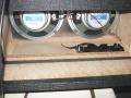 2007-2009 Vox DA20 battery-mains amp, 2 x 8inch speaker 8 ohm 15 watt, 6 C batterijhouder.
