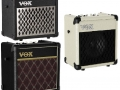 2013- Vox Mini5 Rhythm modeling batterij amp 5 watt RMS in Classic, Black of Ivory.