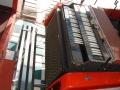 The Vox Mobile Vox Super Continental Organ in de koffer met treeplank.