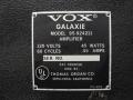 1965- Vox Galaxie typeplaatje.