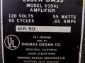 1966- Vox Essex Bass V1041, typeplaatje.