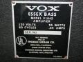 1966- Vox Essex Bass V1042, typeplaatje.