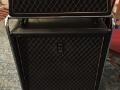 1966- Vox Westminster Bass V118 top 60 watt RMS, V418 cabinet met 18 inch Cerwin Vega speaker 4 ohm op trolley.